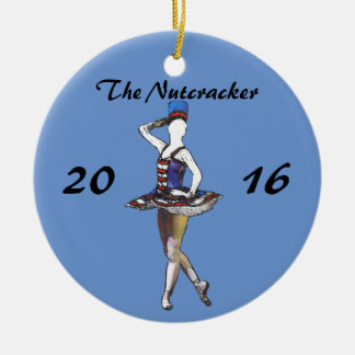 Personalisierte Nussknacker-Verzierung - Keramik Ornament