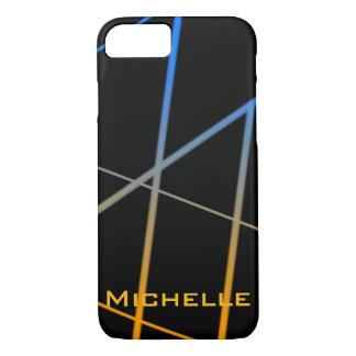 Personalisierte orange und blaue Steigungs-Linien iPhone 8/7 Hülle