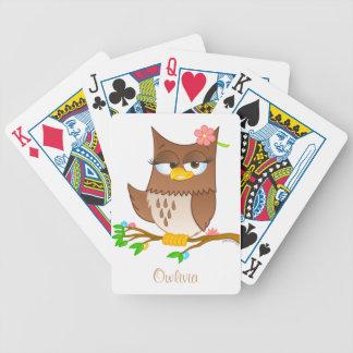 Personalisierte Owlivia Spielkarten