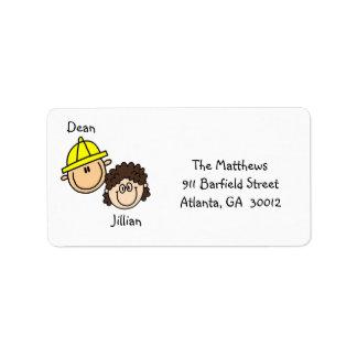 Personalisierte Paar-Adressen-Etiketten Adressaufkleber