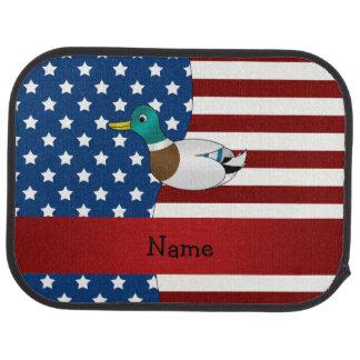 Personalisierte patriotische Stockentennamensente Autofußmatte