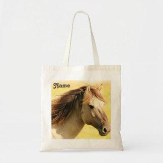 Personalisierte Pferdemalerei Tragetasche