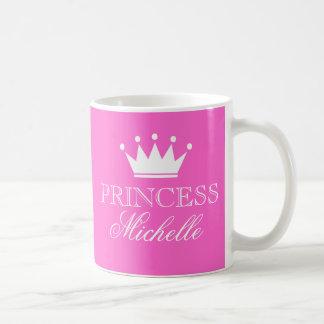 Personalisierte Prinzessin-Tasse im Rosa mit Kaffeetasse