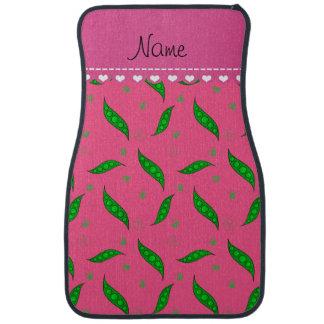 Personalisierte rosa grüne Namenspeapods Automatte