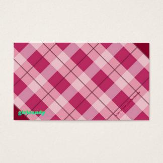 Personalisierte rosa karierte Anmerkung Visitenkarte