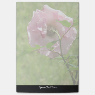 Personalisierte rosa Rosen-Post-Itanmerkungen Post-it Haftnotiz