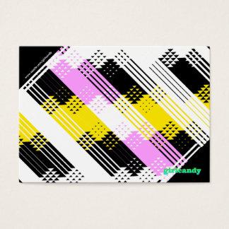 Personalisierte rosa und gelbe Anmerkung Visitenkarte