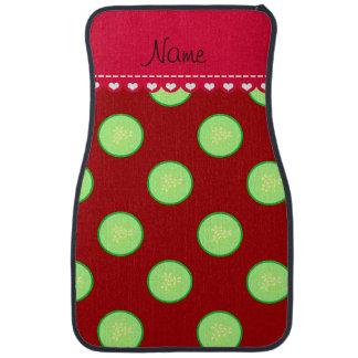 Personalisierte rote grüne Gurkennamensscheibe Automatte