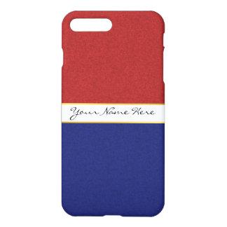 Personalisierte rote, weiße und blaue Streifen iPhone 8 Plus/7 Plus Hülle