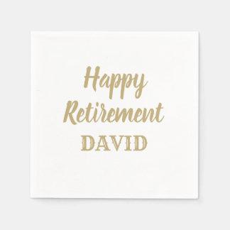 Personalisierte Ruhestandsservietten Serviette