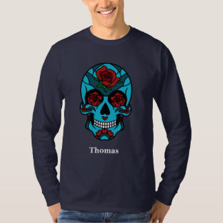 Personalisierte Schädel-Rose Cinco Des Mayo T-Shirt