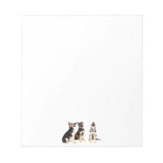 Personalisierte Schäferhund-Welpen Notizblock