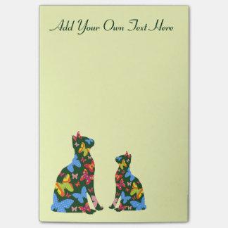 Personalisierte Schmetterlings-Katze Post-it Klebezettel