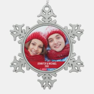 Personalisierte Schneeflocken Zinn-Ornament