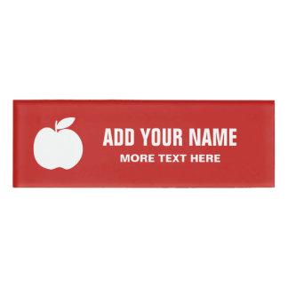Personalisierte Schullehrermagnetische Namenschild