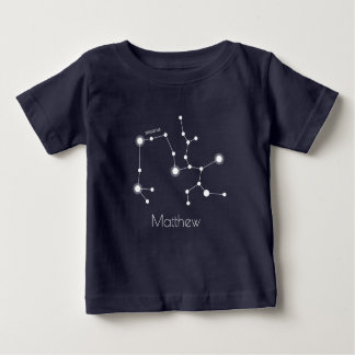 Personalisierte Schütze-Tierkreis-Konstellation Baby T-shirt