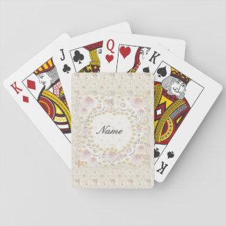 Personalisierte Seashells und Perlen Spielkarten