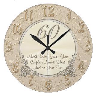Personalisierte sechzigste Jahrestags-Geschenke, Große Wanduhr