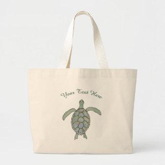 Personalisierte Seeschildkröte-Tasche Jumbo Stoffbeutel