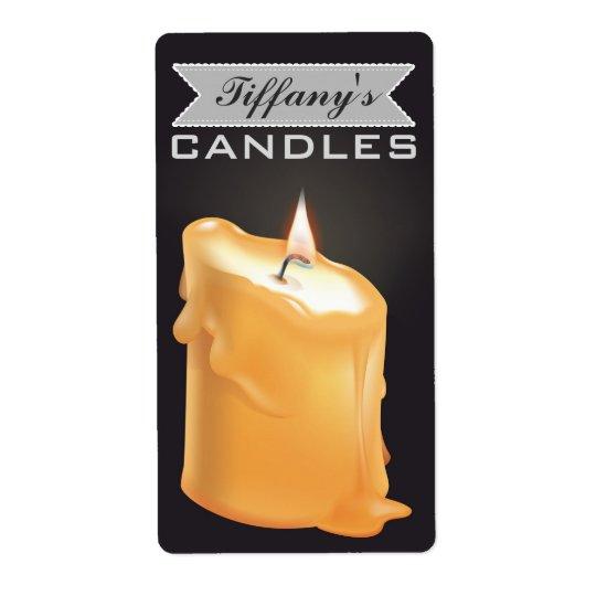 Personalisierte selbst gemachte Kerzen | Versandetiketten