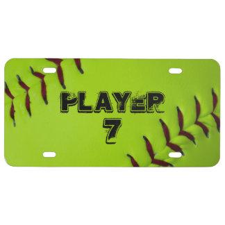 Personalisierte Softballlizenzplatte US Nummernschild