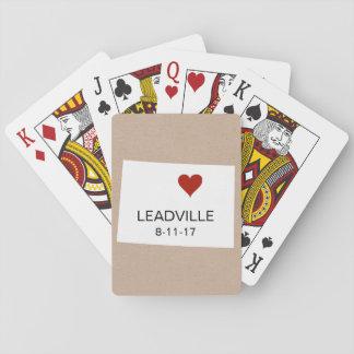 Personalisierte Stadtspielkarten Colorados Spielkarten