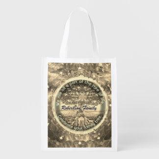 Personalisierte Stammbaum-Tasche Wiederverwendbare Einkaufstasche