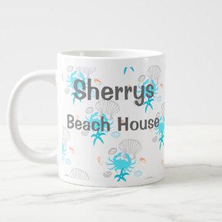 Personalisierte Strand-Haus-Kaffee-Tasse Jumbo-Tasse