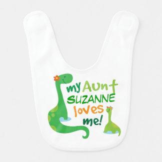 Personalisierte Tante Loves Me Baby Bib Babylätzchen
