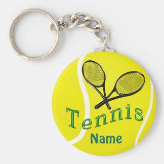 Personalisierte Tennis Keychain Schlüsselanhänger