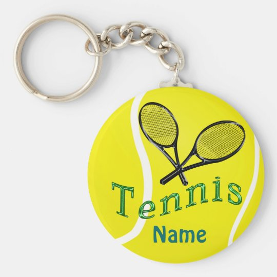 Personalisierte Tennis Keychain Standard Runder Schlüsselanhänger