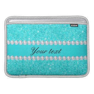 Personalisierte Türkis-Sequins und Diamanten Sleeve Fürs MacBook Air