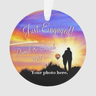 Personalisierte Verlobungs-Verzierung Ornament