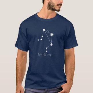 Personalisierte Waage-Tierkreis-Konstellation T-Shirt