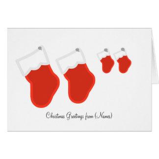 Personalisierte Weihnachtsgruß Karte-Strümpfe Grußkarte