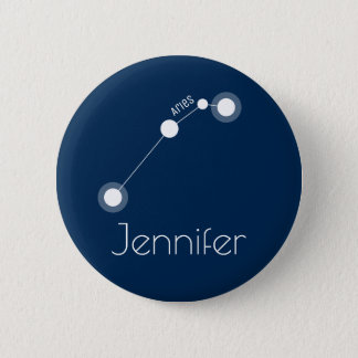 Personalisierte Widder-Tierkreis-Konstellation Runder Button 5,1 Cm
