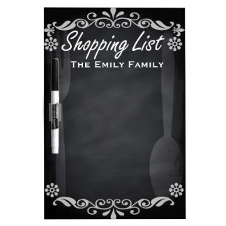 Personalisierte wöchentliche Shopinglist Whiteboard