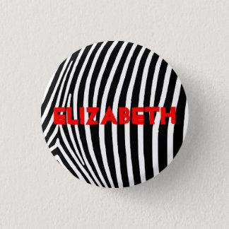Personalisierte Zebra-Streifen Runder Button 2,5 Cm