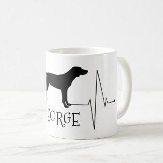 Personalisierte Zeiger-Liebe mein Hundeherz-Schlag Kaffeetasse
