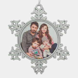 Personalisierte Zinn-Schneeflocke-Verzierung Schneeflocken Zinn-Ornament