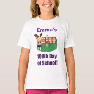 Personalisierter 100. Tag der Schule, Mädchen, T-Shirt