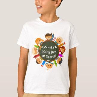 Personalisierter 100. Tag der Schultafel T-Shirt