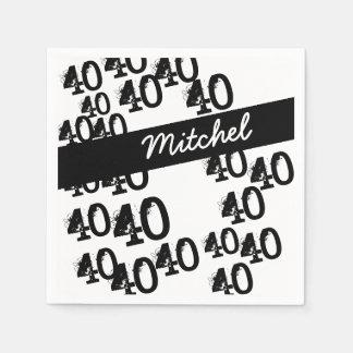 Personalisierter 40. Geburtstags-Funky Papierservietten