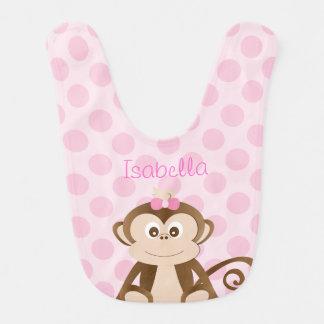 Personalisierter Affe-Baby-Schellfisch Babylätzchen