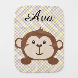 Personalisierter Affeburp-Stoff Baby Spuchtücher