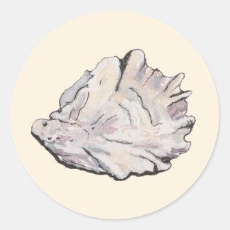 Personalisierter AusterWatercolor Runder Aufkleber