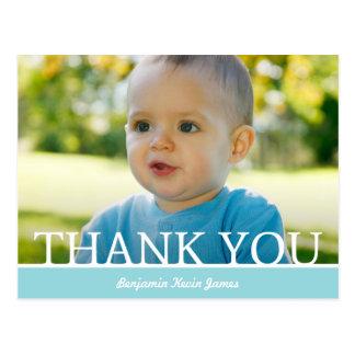Personalisierter Baby-Junge danken Ihnen, - 4,25 x Postkarte