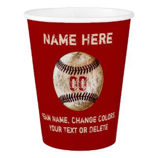 Personalisierter Baseball-Papierschalen Ihre Pappbecher