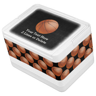 Personalisierter Basketball-Iglu cooler, schwarz Kühlbox