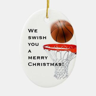 personalisierter Basketball sammelbar Ovales Keramik Ornament